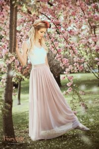Bloom tulle skirt